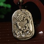 A genuine natural gold Yaoshi Sanyangkaitai pendant male and female lucky draw necklace <b>jewelry</b> wholesale <b>supply</b>