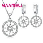 YAAMELI 925 Sterling Silver Necklace Earrings Set Chinese Folk Style Ancient Mythology Story Hot Wheels Modeling For Women