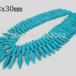 15.5 inches strand of Smooth Horse Eye Blue Howlite Beads, Loose Bulk Tur quoise Pendant Beads <b>Jewelry</b> Making <b>Supplies</b>