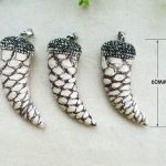 1PCS Natural Druzy Stone Snakeskin Tusk Horn Pendant, Pave Rhinestone Crystal Caps Charms,<b>Jewelry</b> necklace making <b>supplies</b> PD117