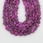 3-5-10 strands Chi Howlite Loose Beads Pendants <b>Jewelry</b> <b>Supply</b>,Purple Stones Drilled Nuggets Craft Necklace