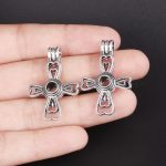 10pcs Silver Cross Pearl Cage <b>Jewelry</b> Making <b>Supplies</b> Bead Cage Pendant Essential Oil Diffuser For Pearl <b>Jewelry</b>