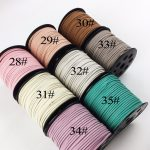 3pc Korean Velvet Cord(28 Color Available)DIY Baby Bracelet Necklace Earring Toys Making Bulk <b>Jewelry</b> <b>Supply</b> Flat Faux Suede