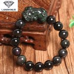 A genuine natural Rainbow Obsidian Bracelet brave men and women lucky evil <b>jewelry</b> wholesale <b>supply</b> Made in China