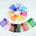 AJP 100pcs/lot Organza Bags Wedding Pouches <b>Jewelry</b> Packaging Bags Nice Gift Bag birthday party <b>supplies</b>