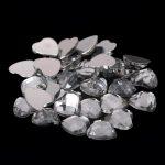8mm 10mm 12mm Crystal Color Acrylic Beads Flatback Heart Earth Facets Non Hotfix Glue On Diamonds DIY <b>Jewelry</b> Making <b>Supplies</b>