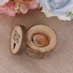 "1Set Hot Wood Wedding <b>Jewelry</b> Box Creative ""His&Her"" Logo Wedding <b>Supplies</b> New"