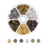Pandahall 180pcs/box Metal Flower Bead Caps 6Color Vintage Filigree DIY <b>Jewelry</b> Making Findings Accessories components <b>supplies</b>
