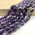 AA Quality Natural Purple Crystal Amethysts Beads Faceted Eggs Oval Stone Spacer 12-16 mm DIY <b>Jewelry</b> Making <b>Supplies</b> Rare Bead