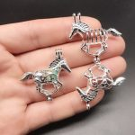 10pcs Bright Silver Running Horse Pearl Cage <b>Jewelry</b> Making <b>Supplies</b> Beads Cage Pendant Essential Oil Diffuser Trendy Locket