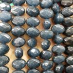 Wholesale Jade evil horse eye marquise oval egg Faceted Bead Sapphire Blue mixed making <b>supplies</b> 10x14mm full strand