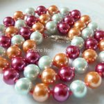 Charming 8mm Colorful Round Shell Pearl Necklace Beads <b>Jewelry</b> Hand Made Natural Stone Mother's Day gifts 18″ Wholesale <b>Supply</b>