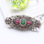 Water Drop Turkish Antique Brooch Women Gold Plating Flower Badge Crystal Brooches Lapel Scarf Pins Arabesque Ethnic <b>Jewelry</b>
