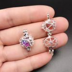 10pcs Bright Silver Love Arrow Pearl Cage <b>Jewelry</b> Making <b>Supplies</b> Alloy Beads Cage Pendant Essential Oil Diffuser Trendy Locket