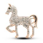Fashion personality Horse shape rhinestones women brooches pearl <b>jewelry</b> brooches for charming gift 4985-1-77