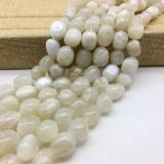 AA Quality Natural Moon Stone Opal Moonstone Beads Smooth Eggs Oval Spacer 10-14 mm DIY <b>Jewelry</b> Making <b>Supplies</b> Rare Bead