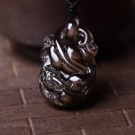 A natural ice Rainbow Obsidian coins lucky pendant <b>jewelry</b> wholesale <b>supply</b> of brave men and women