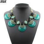 New Arrival 2017 fashion JC resin statement necklace & pendant costume choker chunky bib collar Necklace <b>jewelry</b> <b>supplies</b>