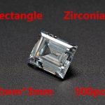 MRHUANG Shine! <b>Jewelry</b> <b>Supplies</b> AAA Brilliant Cuts 2*3mm Retangle Shape Clear Color Cubic Zirconia Stone Beads For <b>Jewelry</b> Diy
