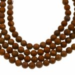 10mm semi-precious Brown Natural Grain Stone Beads full strand <b>jewelry</b> <b>supply</b>