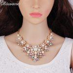 Wimens Brand Factory <b>supply</b> Trendy Classic Lady's Wedding Necklaces Fashion Crystal Rhinestone Pearl <b>Jewelry</b> Accessories 7879