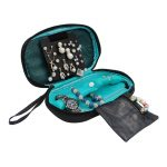 Multifunction Lady's Earring <b>Jewelry</b> Case Women's Necklace Bracelets Ring Organizer Box Travel Cosmetic Bag Accessories <b>Supplies</b>