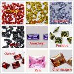 MRHUANG Shine! <b>Jewelry</b> <b>Supplies</b> AAA Brilliant Cuts 1.5*3mm Retangle Shape color Color Cubic Zirconia Stone Beads For <b>Jewelry</b> Diy