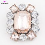 3 Colors Shiny Pin Party <b>Jewelry</b> Clear Big Square and Round Rhinestone Brooch for Women Gifts