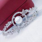 Broche Femme CZ Crystal Flower Brooch Pin Women Pearl <b>Jewelry</b> Fashion Brooch Pins Wedding Party Invitation Bijoux Drop Shipping