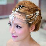 Rhinestone Wedding Bridal <b>Jewelry</b> frontlet headdress flower head flower boutique wedding <b>supplies</b> wedding accessories
