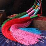 4pcs/lot 10cm Chinese Knot Tassels Handmade Long Silk Tassel Pendants for Tassel <b>Jewelry</b> <b>Supplies</b> Making Materials