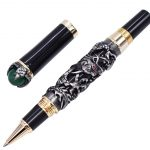 Jinhao Dragon King Vintage Rollerball Pen, Green <b>Jewelry</b> Metal Embossing , Noble Gray Color Business Office School <b>Supplies</b>