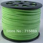 Spring Green 3mm 100yard Faux Suede Leather Cord,Leather String Cord, DIY Cord <b>Supplies</b>