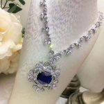 Luxury 925 <b>Sterling</b> <b>Silver</b> Rhinestone Torques For Women Big Crystal Pendant Necklace <b>Silver</b> Plated Banquet Costume Necklace