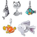 2018 diy craft beads cute animal fish collection 925 sterling silver charms fit original pandora bracelet fine <b>jewelry</b> <b>supply</b>