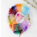 100PCS 7×9 cm ORGANZA GIFT BAGS Wedding <b>Decoration</b> Party Favour <b>Jewellery</b> Packing ,Nice Gift Bag 17 color selection