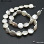 Good Quality Natural White Fresh Water Pearl Coin Loose Beads Flat Round <b>Jewelry</b> Making <b>Supplies</b>