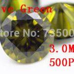 MRHUANG <b>Jewelry</b> <b>Supplies</b> AAA Grade CZ Cubic Zirconia Olive Green Round Zircon 3.0MM DIY <b>Jewelry</b> Findings <b>Supplies</b> Free Shipping