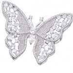 DIY <b>Jewelry</b> Components <b>Supplies</b> Zirconia Floating Butterfly Pendant Accessories For Natural Stones Pearls Cage Necklace Making