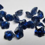 6mm 20pcs Sapphire blue Cubic Zirconia Beads, <b>Jewelry</b> Craft <b>Supplies</b> fluorial flower petal rainbow CZ earings