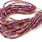 6x14mm Tube Beads – Impression Jasper Beads Bar Imperial jasper Aqua Terra – <b>Jewelry</b> Making <b>Supply</b> – Pink,Green ,Blue,Purple Ful