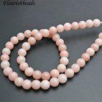 4mm~10mm Natural Pink Opal Stone Round Loose Beads DIY <b>Jewelry</b> making <b>supplies</b> 5 strands per lot