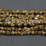 5-8mm Gold Titanium Quartz Drilled Chips Beads,Raw Crystals Rough Quartz Rubble Loose Beads Nuggets <b>Jewelry</b> <b>Supplies</b>