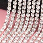 DoreenBeads 9.1m long High Quality Clear Rhinestones 3mm DIY Craft <b>Supplies</b> for Garment Shoes Bag <b>Jewelry</b> Hair Accessories 1Pack