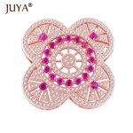 <b>Supplies</b> For <b>jewelry</b> findings connectors Micro Pave Zircon Rhinestone Flower Charms For Pearl Necklace Pendant Fittings 32*32mm