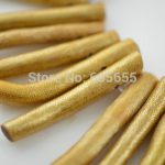 Unique Gold Color Sea Bamboo Coral Long Branches Tube Stick Loose Beads Fashion <b>Jewelry</b> Making <b>Supplies</b>