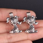 10pcs Silver Dog Pearl Cage <b>Jewelry</b> Making <b>Supplies</b> Bead Cage Pendant Essential Oil Diffuser For Pearl Jewellry