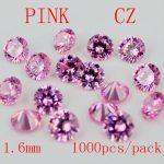 MRHUANG AAA Grade CZ Cubic Zirconia PINK Round Zircon Stone 1.6/1.75/1.8/1.9MM DIY <b>Jewelry</b> Findings <b>Supplies</b> Free Shipping
