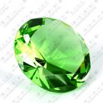 2pcs 60mm green Crystal souvenirs wedding party <b>supplies</b>, Diamond <b>jewelry</b> Paperweight,wedding decoration centerpieces crystal