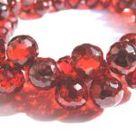 20pcs Crimsone red Cubic Zirconia Beads, <b>Jewelry</b> Craft <b>Supplies</b> diamond teardrop drop faceted CZ <b>jewelry</b> 5-9mm